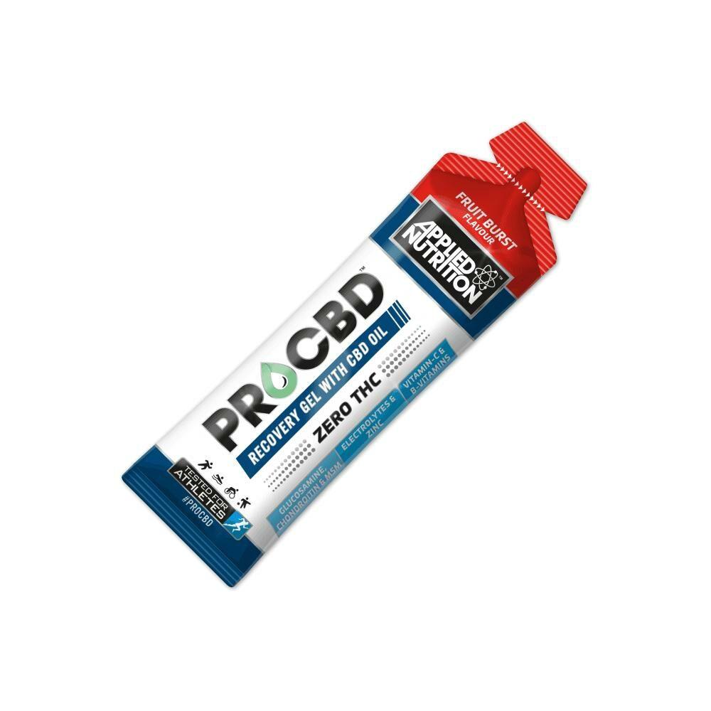 cbd recovery gel sachet on white background