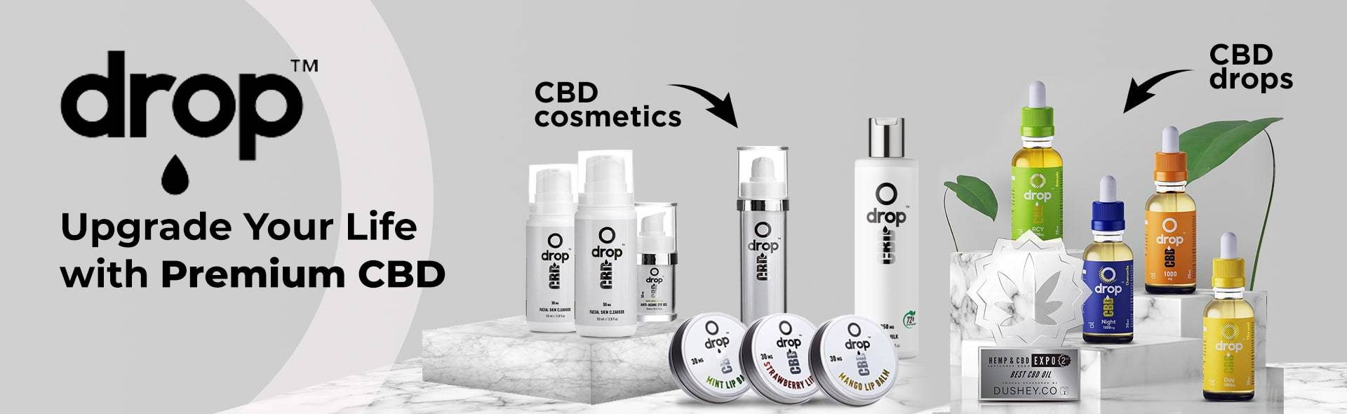 drop cbd skincare and wellbeing range of cbd products
