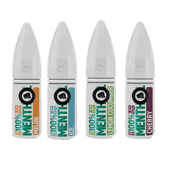 riot squad menthol range of 4 nic salts