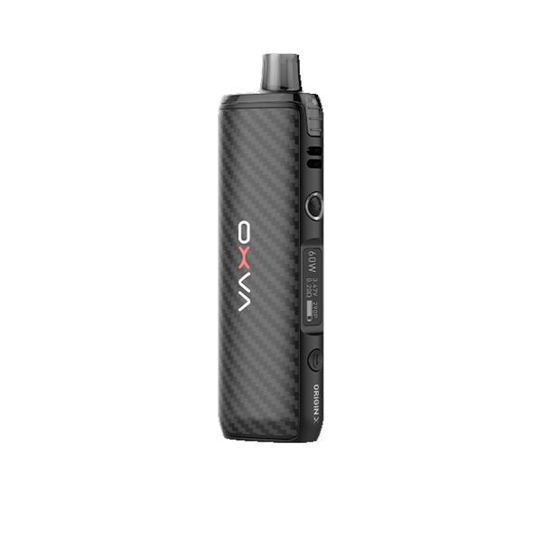 oxva origin x vape kit in black carbon fibre