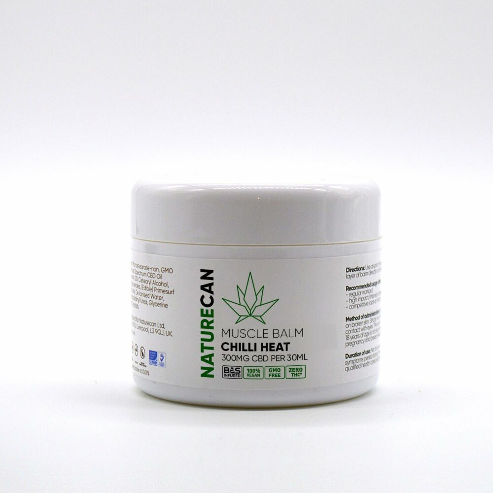 naturecan heating CBD balm on white background