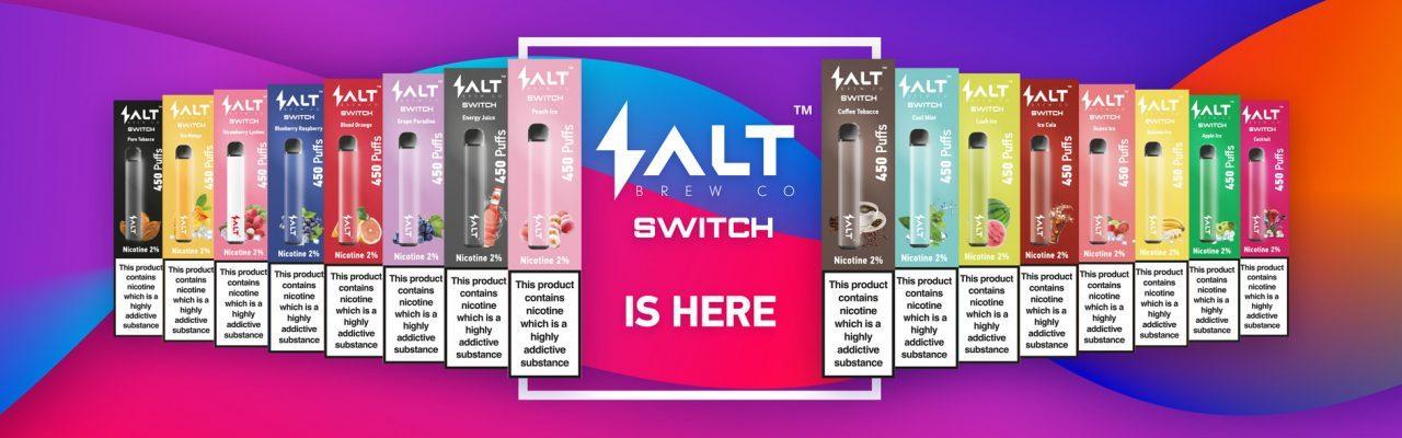 Salt switch disposable Vape pens range